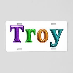 Troy Shiny Colors Aluminum License Plate