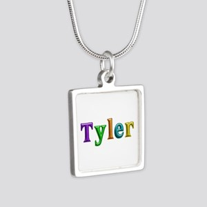 Tyler Shiny Colors Silver Square Necklace