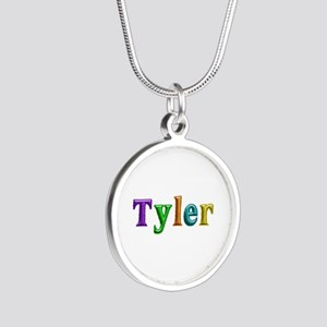 Tyler Shiny Colors Silver Round Necklace