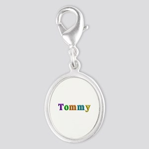 Tommy Shiny Colors Silver Oval Charm