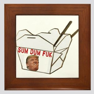Sum Dum Fuk Framed Tile