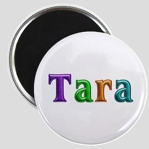 Tara Shiny Colors Round Magnet