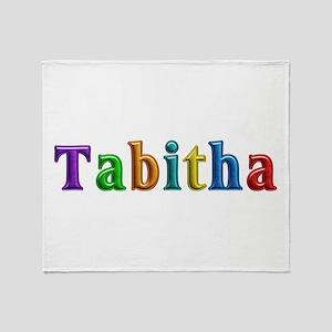 Tabitha Shiny Colors Throw Blanket