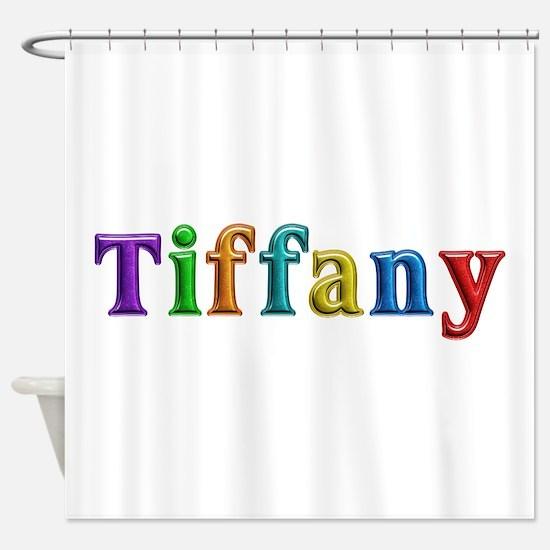 Tiffany Shiny Colors Shower Curtain