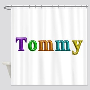 Tommy Shiny Colors Shower Curtain