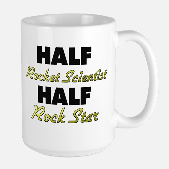 Half Rocket Scientist Half Rock Star Mugs