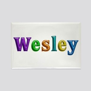 Wesley Shiny Colors Rectangle Magnet