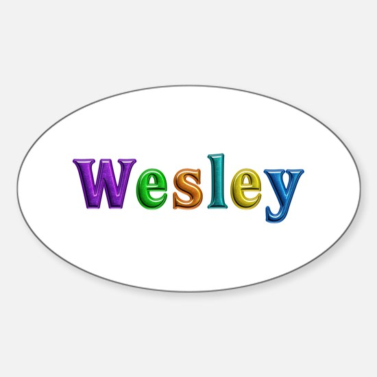 Wesley Shiny Colors Oval Decal