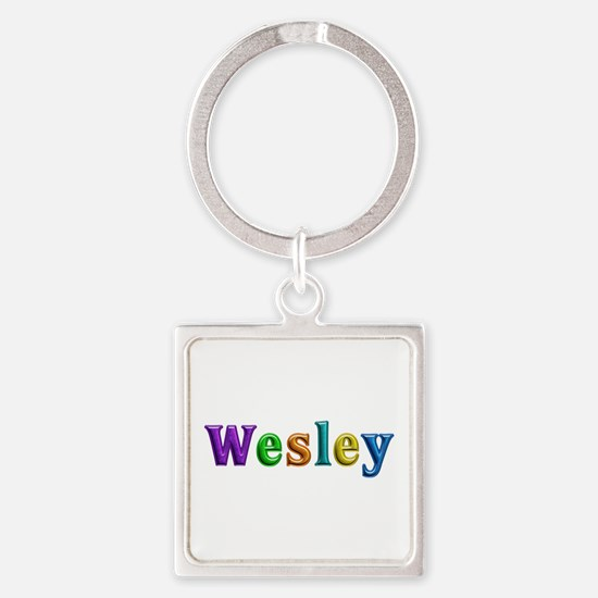 Wesley Shiny Colors Square Keychain