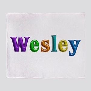 Wesley Shiny Colors Throw Blanket
