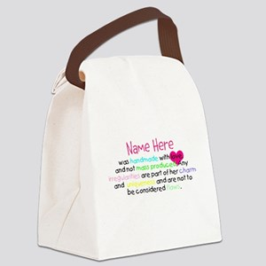 Customised Handmade With Love girl white Canvas Lu