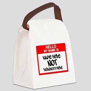 Hello...My name is... Canvas Lunch Bag