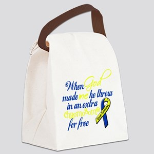 free chromosome white Canvas Lunch Bag