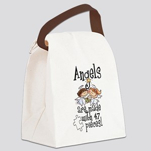 Awareness tee angels are made Canvas Lunch Bag