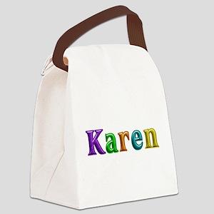 Karen Shiny Colors Canvas Lunch Bag