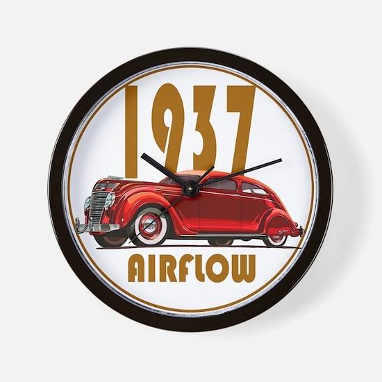 1937 Airflow-C10trans.png Wall Clock
