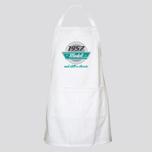 1957 Birthday Vintage Chrome Apron