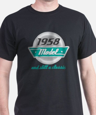 1958 Birthday Vintage Chrome T-Shirt