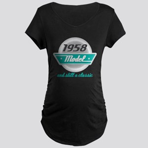 1958 Birthday Vintage Chrome Maternity Dark T-Shir