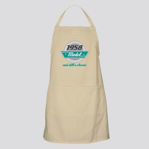 1958 Birthday Vintage Chrome Apron