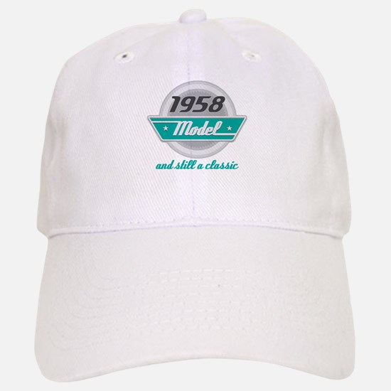 1958 Birthday Vintage Chrome Baseball Baseball Cap