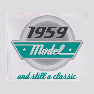 1959 Birthday Vintage Chrome Throw Blanket