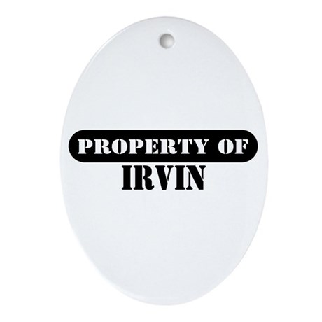 Property of Irvin Oval Ornament
