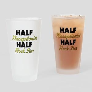 Half Receptionist Half Rock Star Drinking Glass