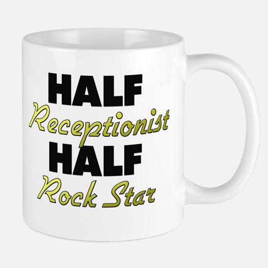 Half Receptionist Half Rock Star Mugs