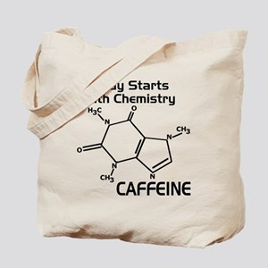 Molecular Caffeine Tote Bag
