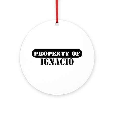 Property of Ignacio Ornament (Round)