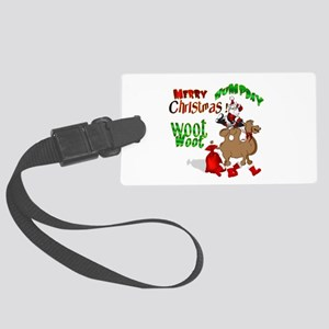 Merry Hump Day Christmas Large Luggage Tag