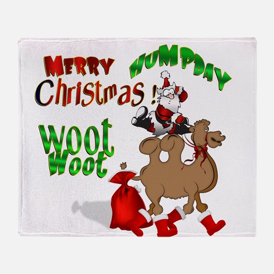 Merry Hump Day Christmas Throw Blanket