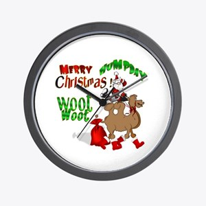Merry Hump Day Christmas Wall Clock