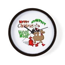 Merry Hump Day Christmas Wall Clock