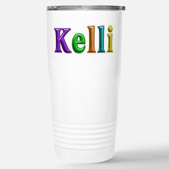 Kelli Shiny Colors Stainless Steel Travel Mug