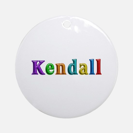 Kendall Shiny Colors Round Ornament
