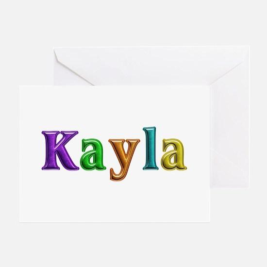 Kayla Shiny Colors Greeting Card