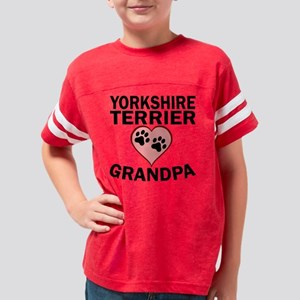 Yorkshire Terrier Grandpa Youth Football Shirt