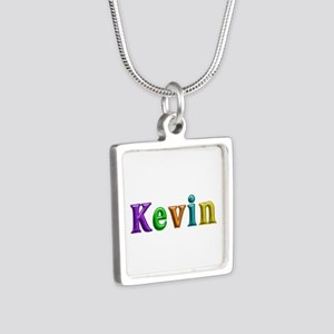 Kevin Shiny Colors Silver Square Necklace