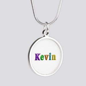 Kevin Shiny Colors Silver Round Necklace