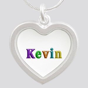 Kevin Shiny Colors Silver Heart Necklace