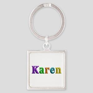 Karen Shiny Colors Square Keychain