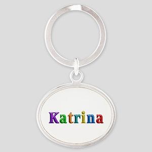 Katrina Shiny Colors Oval Keychain