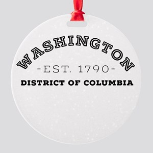 Washington District of Columbia Round Ornament