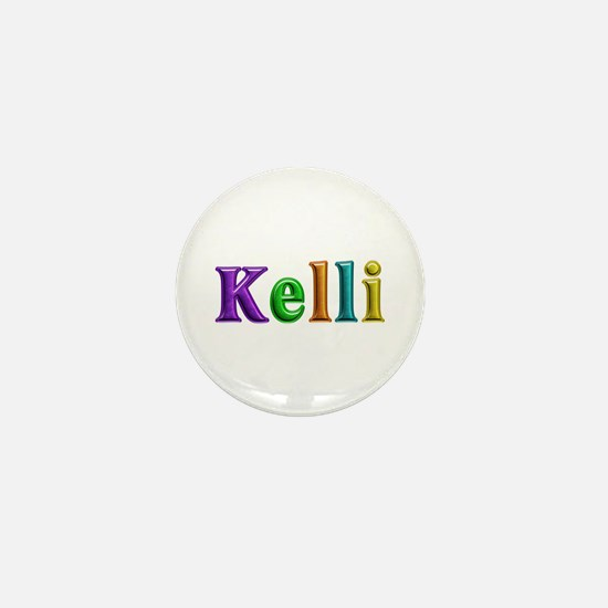 Kelli Shiny Colors Mini Button