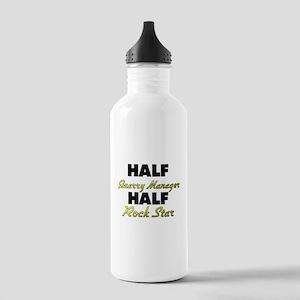 Half Quarry Manager Half Rock Star Water Bottle