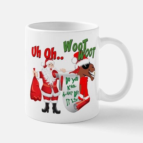 Uh Oh Hump Day Christmas Mug
