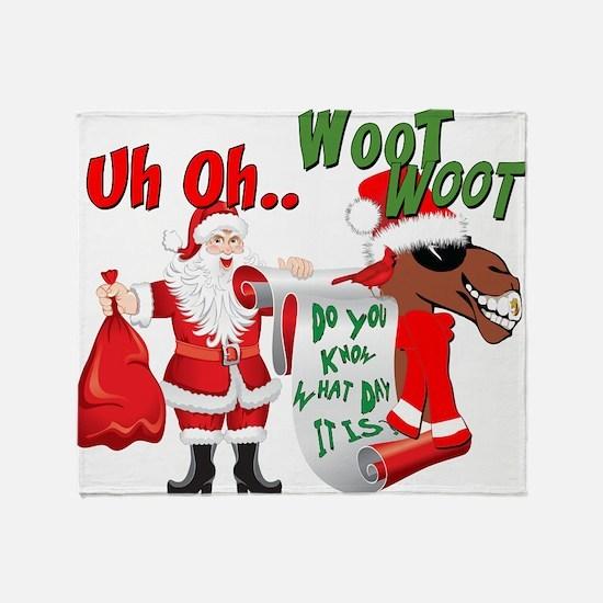 Uh Oh Hump Day Christmas Throw Blanket
