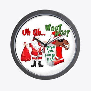 Uh Oh Hump Day Christmas Wall Clock